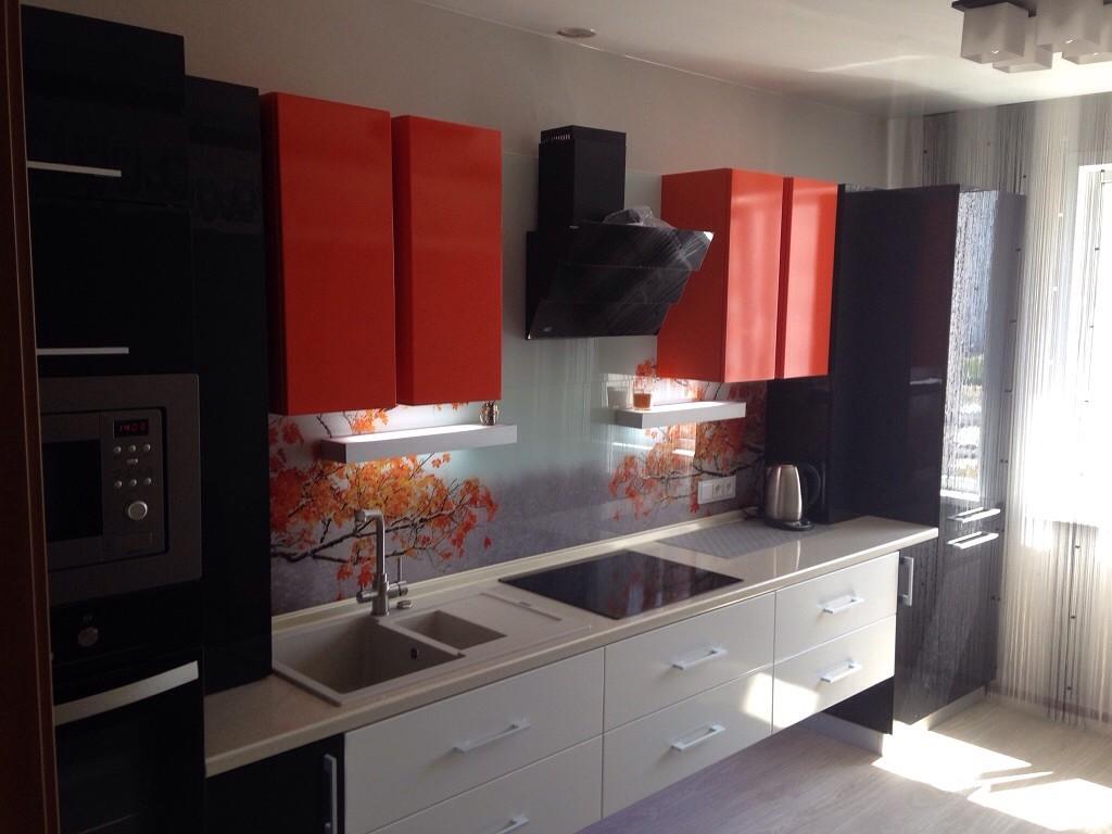 кухня в красно-бело-черном цвете фото вот