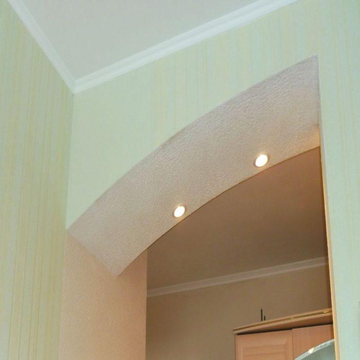 фото арок из гипсокартона на кухню узоры орнаменты для